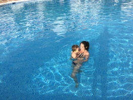 swimming with mami